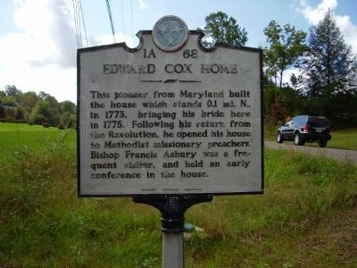 Edward Cox Home Marker image. Click for full size.