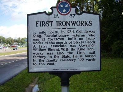 First Ironworks Marker image. Click for full size.