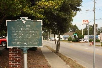 Holly Hill Marker, looking northward along State Street (US 176) image. Click for full size.