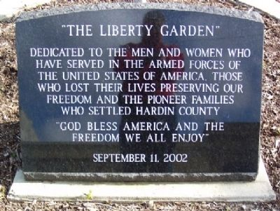 """The Liberty Garden"" Marker image. Click for full size."