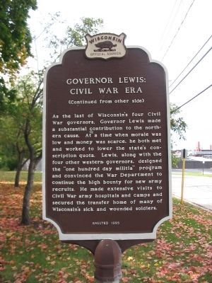Governor Lewis: Civil War Era Marker image. Click for full size.