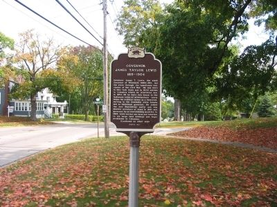 Governor James Taylor Lewis / Governor Lewis: Civil War Era Marker image. Click for full size.