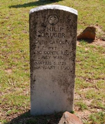 Tombstone for Philip Gruber image. Click for full size.