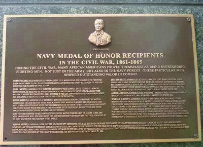 African American Medal of Honor Recipients Memorial, Marker Panel 3: image. Click for full size.