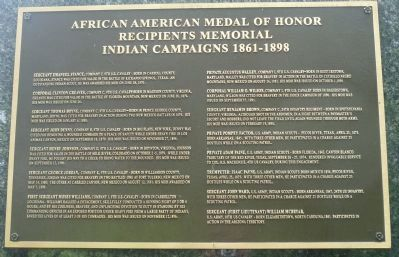 African American Medal of Honor Recipients Memorial, Marker Panel 5: image. Click for full size.