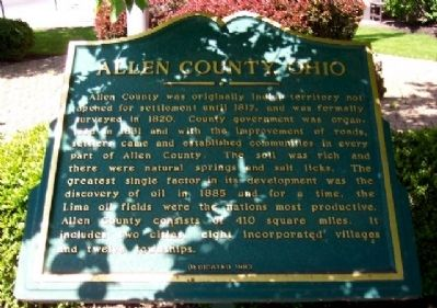 Allen County, Ohio Marker image. Click for full size.