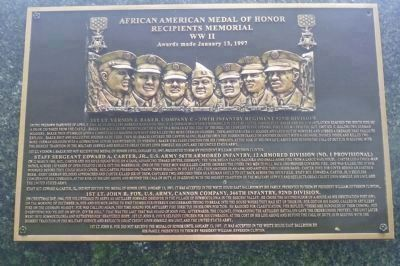 African American Medal of Honor Recipients Memorial, Marker Panel 9: image. Click for full size.