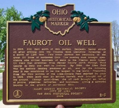 Faurot Oil Well Marker image. Click for full size.