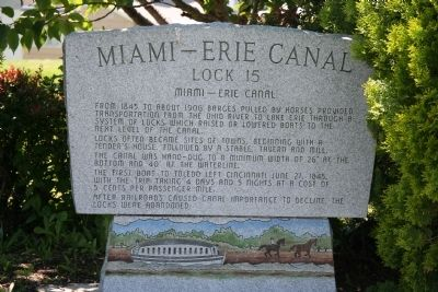 Miami – Erie Canal Marker image. Click for full size.