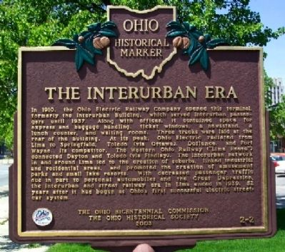 The Interurban Era Marker image. Click for full size.