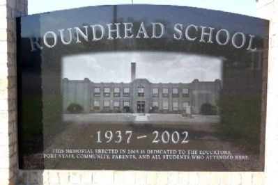 Roundhead School Marker image. Click for full size.
