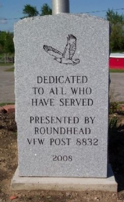 Roundhead Veterans Memorial image. Click for full size.