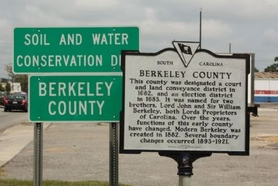 Berkeley County Marker image. Click for full size.