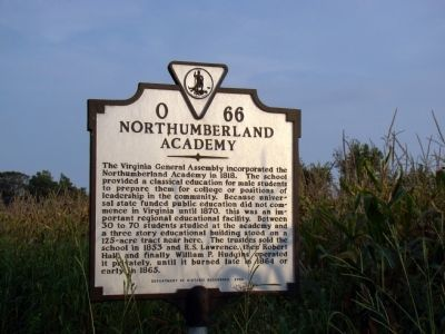 Northumberland Academy Marker image. Click for full size.