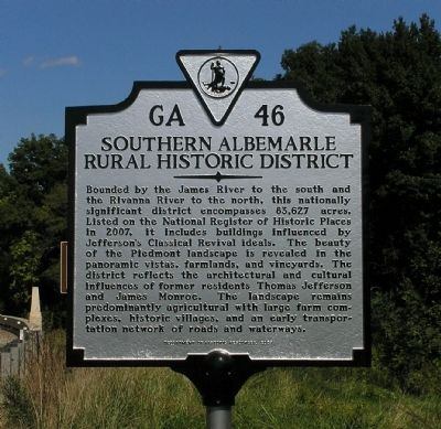 Southern Albemarle Rural Historic District Marker image. Click for full size.
