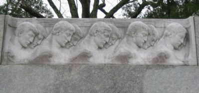 Relief on the Left Side of the Monument image. Click for full size.