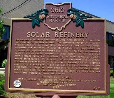 Solar Refinery Marker (Side A) image. Click for full size.