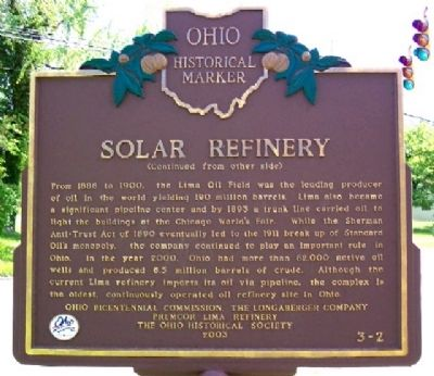 Solar Refinery Marker (Side B) image. Click for full size.