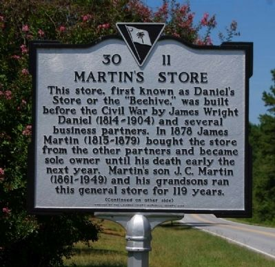 Martin's Store Marker - Front image. Click for full size.