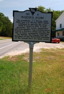 Martin's Store Marker - Reverse image. Click for full size.