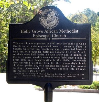 Holly Grove African Methodist Episcopal Church Marker image. Click for full size.