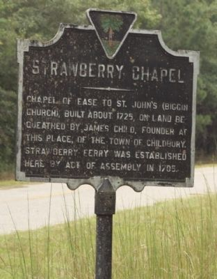 Strawberry Chapel Marker image. Click for full size.