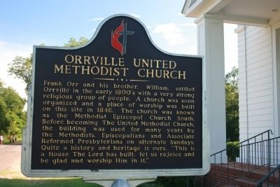 Orrville United Methodist Church Marker image. Click for full size.