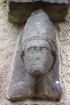 Cleric Above Kilfenora Cathedral Southwest Entry image. Click for full size.