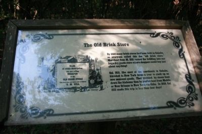 The Old Brick Store Marker image. Click for full size.