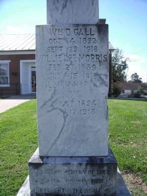 World War I Monument (front). image. Click for full size.