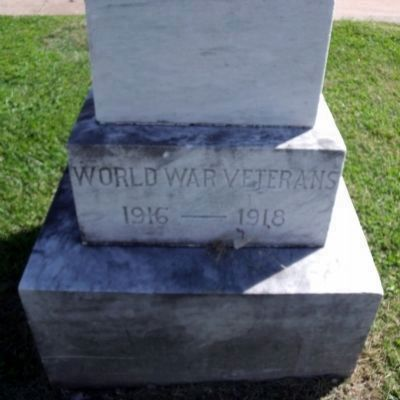 World War I Monument (side). image. Click for full size.