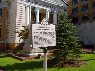 Greeneville Union Convention Marker image. Click for full size.