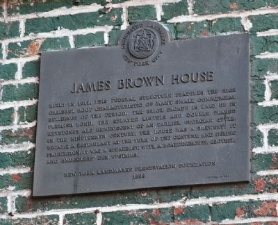 James Brown House Marker image. Click for full size.