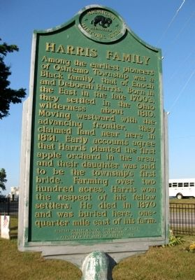 Harris Family Marker image. Click for full size.