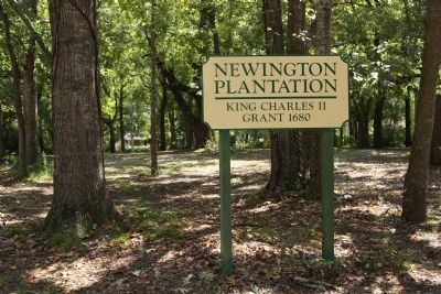 Newington Plantation , King Charles II Grant, 1680 image. Click for full size.