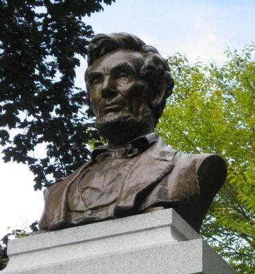 Closeup of Lincoln's Bust image. Click for full size.