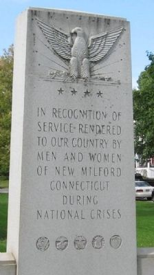 New Milford Veterans Monument image. Click for full size.