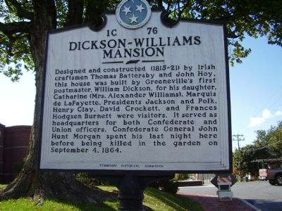 Dickson - Willians Mansion Marker image. Click for full size.