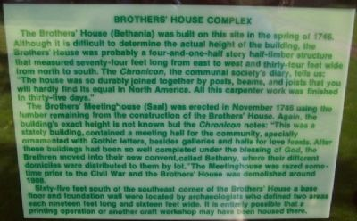 Brothers' House Complex Marker image. Click for full size.