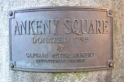 Ankeny Square Marker on Entrance Column image. Click for full size.