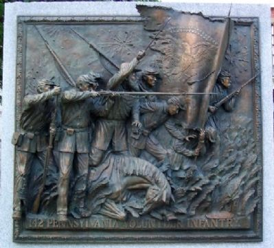 142nd Pennsylvania Volunteer Infantry Memorial Sculpture image, Touch for more information