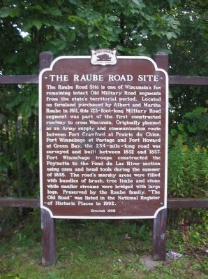 The Raube Road Site Marker image. Click for full size.