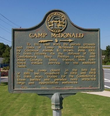 Camp McDonald Marker image. Click for full size.