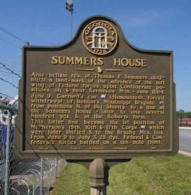 Summers House Marker image. Click for full size.