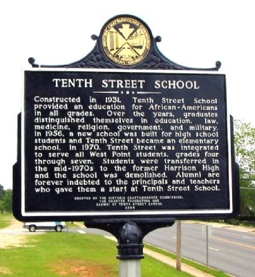 Tenth Street School Marker image. Click for full size.
