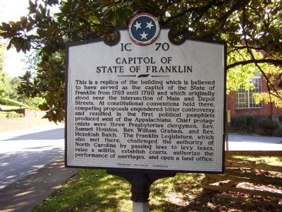 Capitol of State of Franklin Marker image. Click for full size.