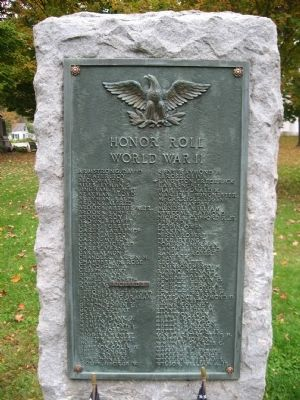 Newfane World War II Monument image. Click for full size.