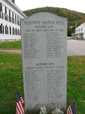 Newfane Honor Roll Marker image. Click for full size.