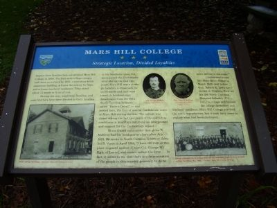 Mars Hill College Marker image. Click for full size.