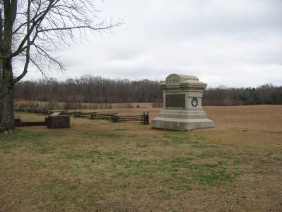 2nd Iowa Monument and Wayside image. Click for full size.